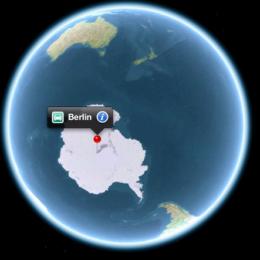 Bunte Sammlung der besten Apple Maps: Berlin am Südpol, das iPad am Hochhaus