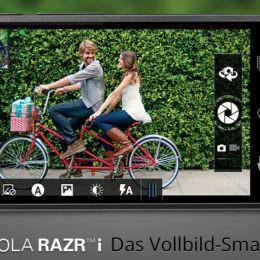 Motorola stellt RAZR i vor, erstes Intel-Smartphone mit 2-GHz-Prozessor