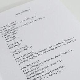 Schade, ihr werdet diesen Sammelband voller Codepoesie vorerst nicht kaufen können