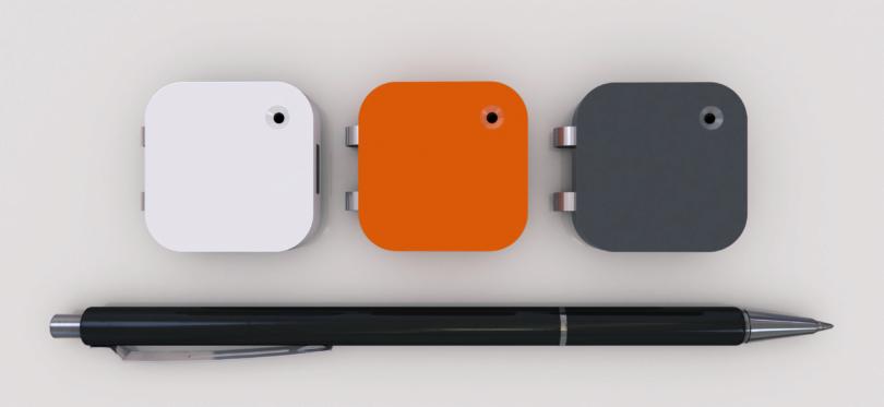 Wird in drei Farben lieferbar sein: die Memoto Lifelogging Camera