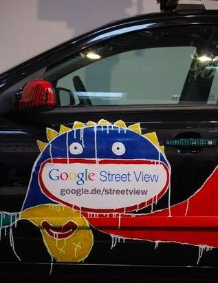 Die Autos von Google-Streetview auf der CeBit 2010