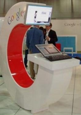 Online-Marketingmesse in Köln 2008 - Stand von Google