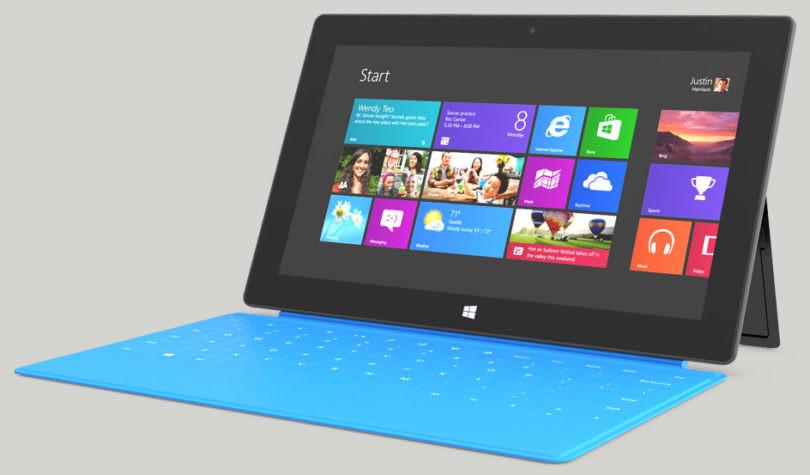Das Surface Tablet von Microsoft