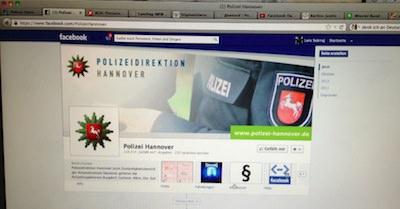 Facebook-Seite der Polizeidirektion Hannover