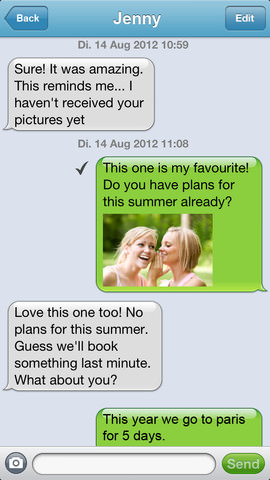 Screenshot der mysms-iPhone-App