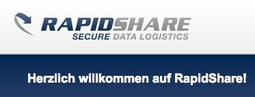 Screenshot von Rapidshare.com