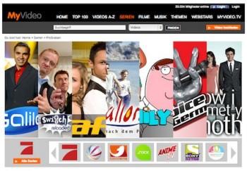 Screenshot von myvideo.de: ProSieben Serien