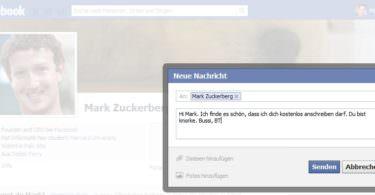 Meine Nachricht an Mark Zuckerberg