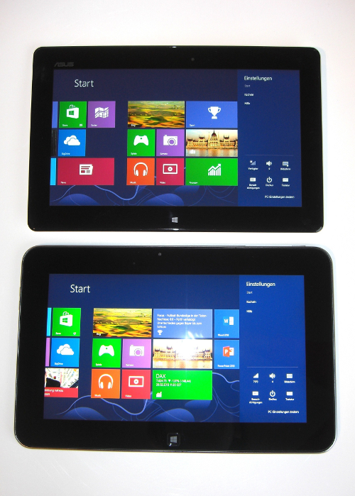 Asus VivoTab Smart und Dell XPS 10 Displays