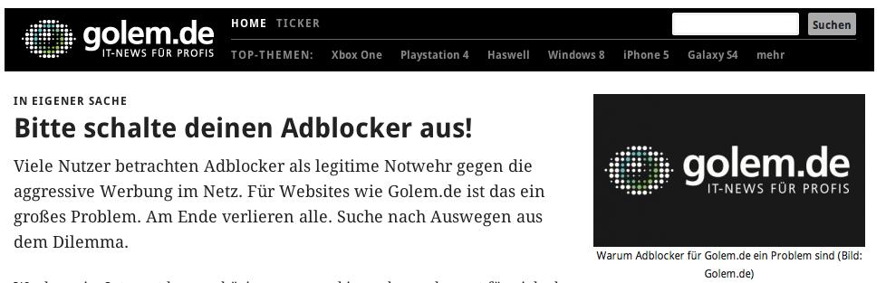 Anti-AdBlocker-Kampagne von Nachrichtenseiten: Doch kein (so großer) Flop?