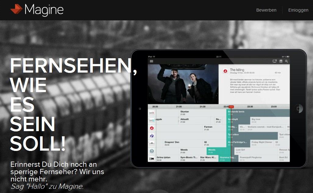 Zeitgleich zur neuen 3G-Streaming-App von Zattoo: Konkurrent Magine nimmt Kurs auf Deutschland
