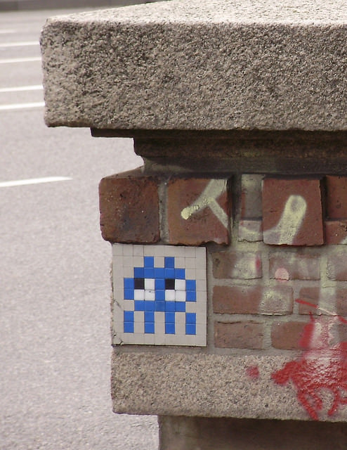 spaceinvader - http://www.flickr.com/photos/uair01/2750475364/