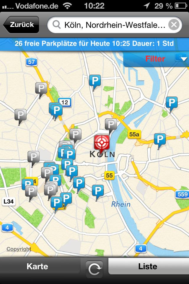 Parkplatz-App ampido Screenshot