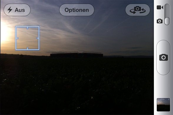 Foto Belichtung beim iPhone - heller Bereich