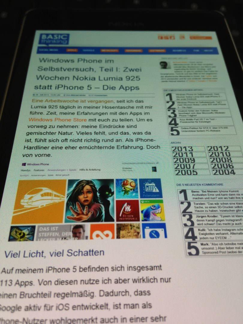 Display Lumia 925