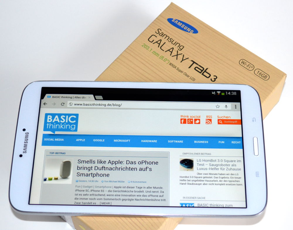 das samsung galaxy tab 3 8 0 im test gegen google schon. Black Bedroom Furniture Sets. Home Design Ideas