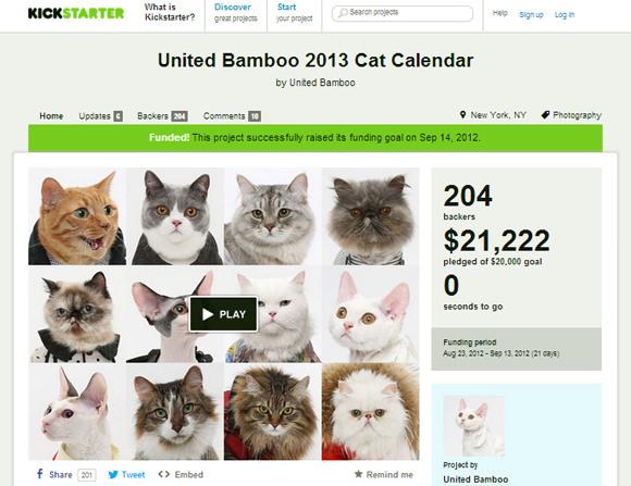 Cat Content bei Kickstarter