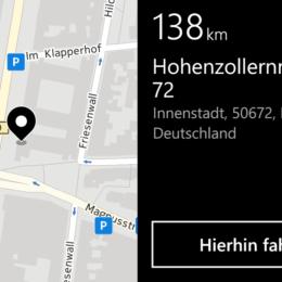 Windows Phone im Selbstversuch, Teil IV: Zwei Wochen Nokia Lumia 925 statt iPhone 5 - Die HERE Drive Navigation