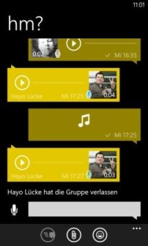Push-To-Talk bei WhatsApp auch direkt für Windows Phone. Die Kollegen freut's.