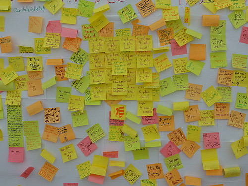 post-it - Martin Abegglen - http://www.flickr.com/photos/twicepix/4837076726/