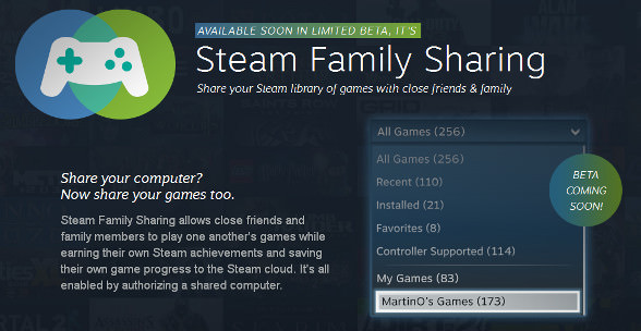 SteamFamilySharing - Screenshot - http://store.steampowered.com/sharing/