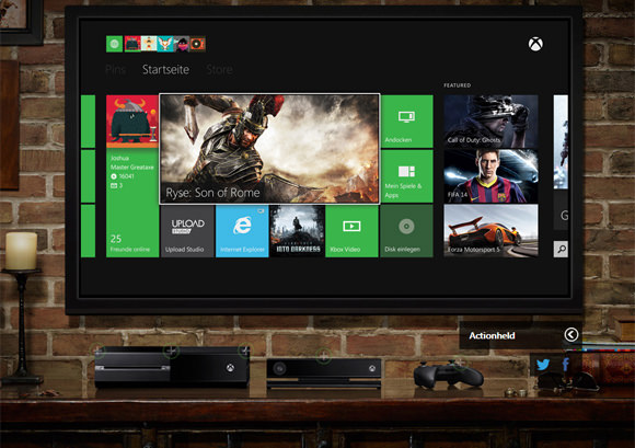 Xbox One Webseite