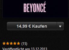 Nicht bei Spotify: Neues Beyoncé-Album exklusiv & nur komplett bei iTunes. Wieso ich fürchte, dass das Beispiel die Runde machen könnte.