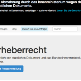#Zensurheberrecht: Bundesinnenministerium lässt Website FragDenStaat.de abmahnen
