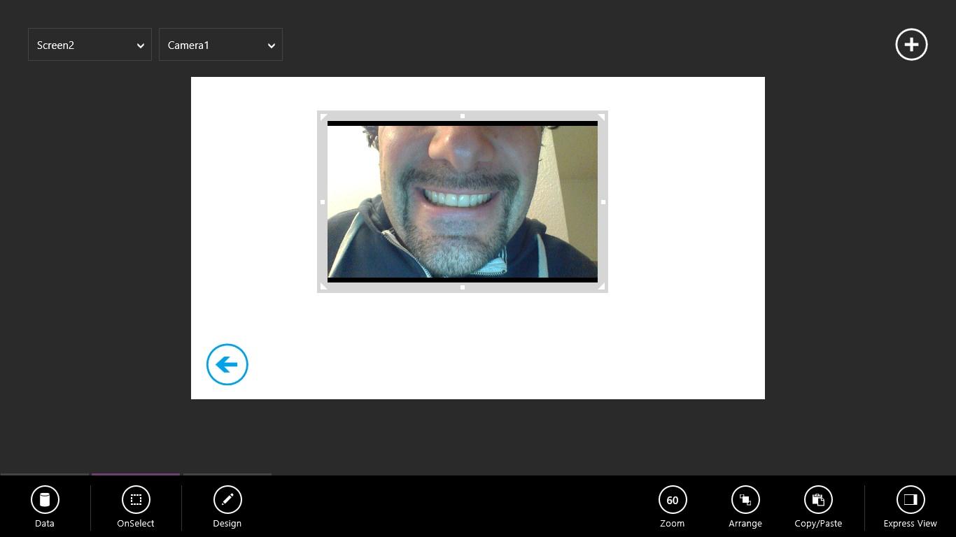 Bitte schön Lächeln: Die zweite Seite nutzt die Webcam-Funktion meines Notebooks. Schick.