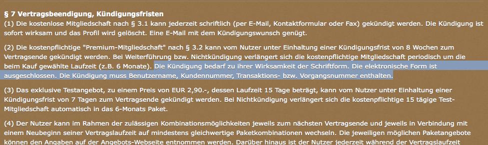 Urteil Des Lg München Ausschließlich Kündigung Per Post Für Online