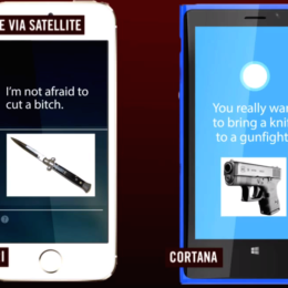 "Siri vs. Cortana: ""I'm not afraid to cut a bitch"" - Duell der Sprachassistenten"