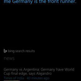 Deutschland wird Weltmeister - Sagt zumindest der Sprachassistent Cortana von Microsoft