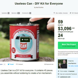 Och nö, nicht schon wieder: Die Useless Can – ein weiteres sinnloses Kickstarter-Projekt, das Kohle scheffelt