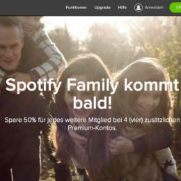 """Aggressives Wachstum: """"Spotify Family"""" will der Familie mehr Abos verkaufen"""