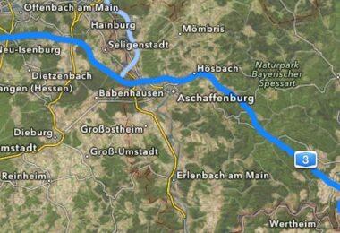 Verlauf Autobahn 3 A3