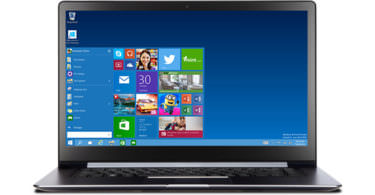 Windows 10 auf einem Notebook (Bild: Microsoft)