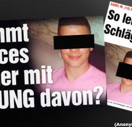 """Trauer um Tugce A.: """"BILD"""" zeigt Facebook-Bilder des Täters ohne Anonymisierung"""