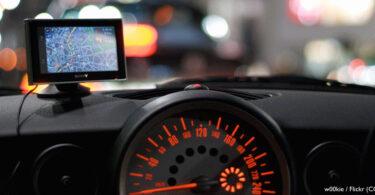 Navigationssystem im Auto