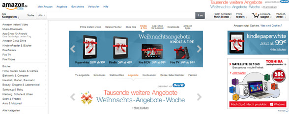 amazon-webseite