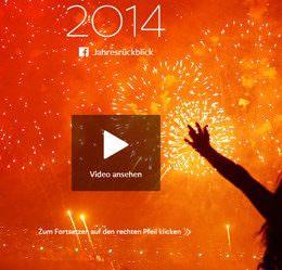 Jahresrückblicke: Facebook und Youtube zeigen, was die Welt 2014 bewegt hat