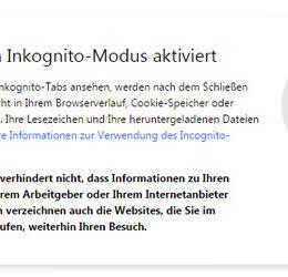 Bekommt der Chrome einen automatischen Inkognito-Modus?