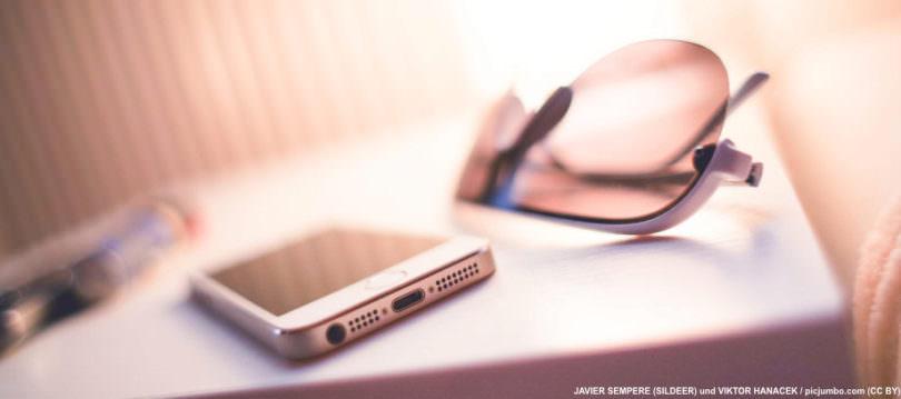 Smartphone-Sonnenbrille-Urlaub