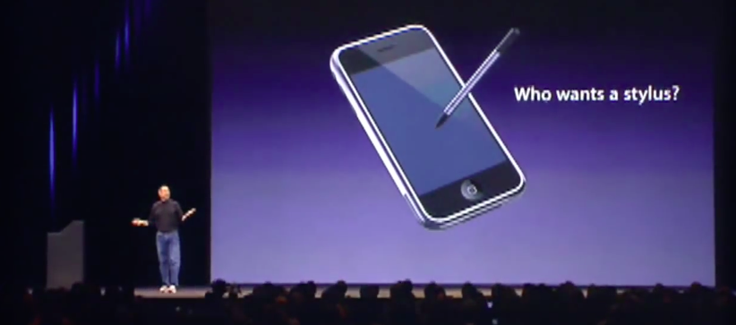 Steve Jobs: Who wants a Stylus?