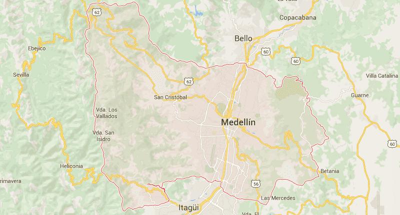 Hier ist Marinela aktuell: Medellín, Kolumbien