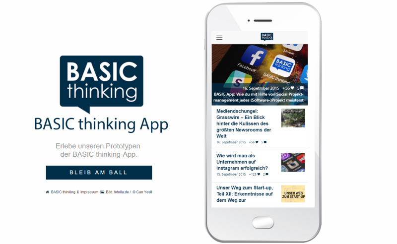 Prototyp BASIC thinking App