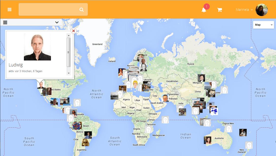 Die Weltkarte bei MyWirelessLife