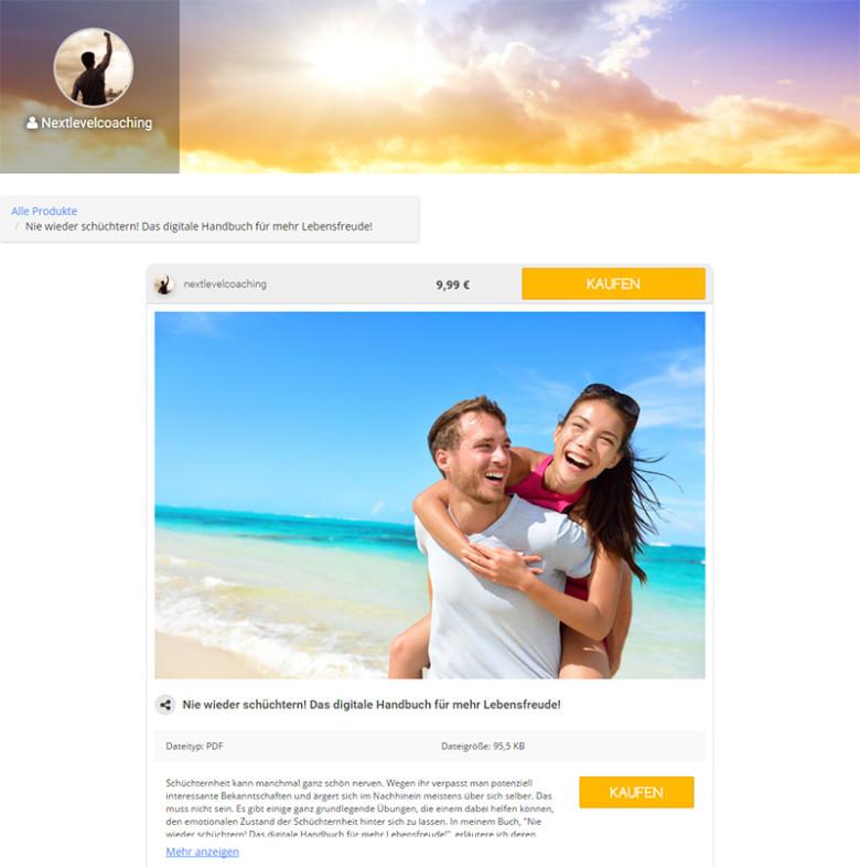 Die Produktseite bietet Infos sowie die Möglichkeit zum Kauf