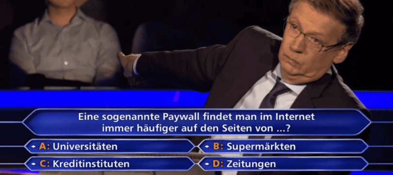 Paywall Wer wird Millionär