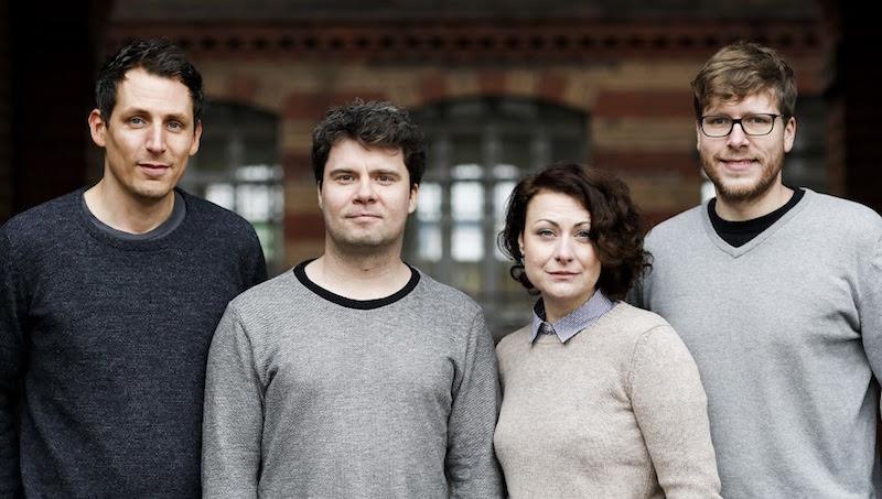 Die Gründer von Viertausendhertz: Nicolas Semak, Christian Grasse, Marie Dippold und Hendrik Efert