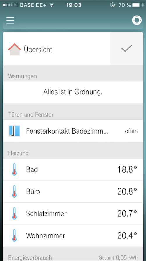 Qivicon Smart Home Fensterkontakt Heizung